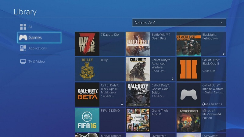 How to delete games on ps4